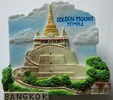 Golden Mount Temple Bangkok Buddha Thailand 3D Fridge Magnet