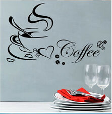 Coffee Cup DIY Art Vinyl Wall Sticker Decal Mural Kitchen Home Decor Serviceable