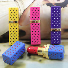 Lovely Charming Lipstick Shaped Butane Gas Refillable Cigarette Tobacco Lighter