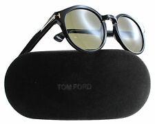 New Tom Ford Sunglasses Men Round TF 400 Lucho Black 01J TF400 49mm