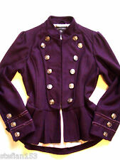 PURPLE MILITARY JACKET VINTAGE VICTORIAN RIDING MISTRESS STEAM PUNK UK 10