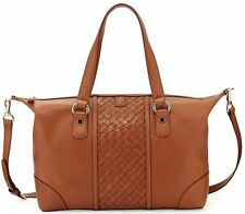 Cole Haan Ladies Bag Archer Heritage Weave Leather Satchel Cross-body Woodbury
