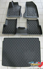 2015-16 Jeep Renegade Rubber Slush Floor Liner Mats and Cargo Tray Set Mopar OEM