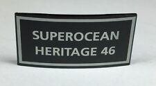 BREITLING SUPEROCEAN HERITAGE 46 Plastic Plaque Display Original OEM