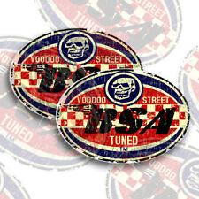 BSA STICKERS BY VOODOO STREET™ 95mm x 65mm self adhesive vinyl