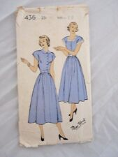 New York Pattern Company Vintage Sewing 436 Dress Size 12 .25 Used Unprinted