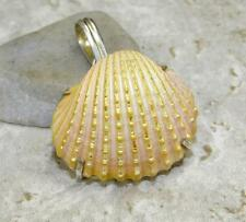 925 Sterling Silver Overlay PENDANT Jewelry | DYED SEA SHELL 1 1/2 in M04-148