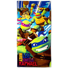 "Teenage Mutant Ninja Turtles Kids Beach Towel Pool Bath Cotton 28""X58"" TMNT NEW"