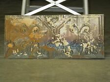 "Old Antique ( Metal )  tin ceiling tile tiles 24""x 10"" filler, backsplash?"