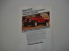 advertising Pubblicità 1982 JEEP CJ7 CJ 7