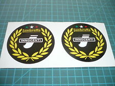 Lambretta Innocenti Laurels (Pair) Scooter stickers 75mm