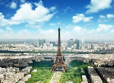 Fototapete SELBSTKLEBEND Paris (3005)-8Teile PAPIER 272x198cm-Stadt Steine Wald