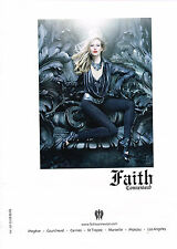 PUBLICITE ADVERTISING   2011  FAITH CONNEXION  haute couture