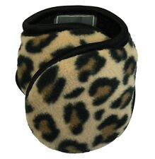 Degrees By 180s Womens Fleece Cheetah Print Winter Ear Warmers Muffs NEW!