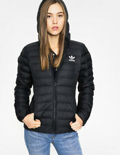 adidas Women's outdoor Coat Slim Fit Hooded Jacket  AY4747 Black UK:14 US:MEDIUM
