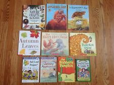 FALL AUTUMN SEASON Teacher Lot 10 Books PUMPKINS Leaves JOHNNY APPLESEED & More!