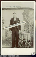 Cabinet Photo - Man Standing Books On Table W/Lace Cloth-SHOCKEY Family (Walt)