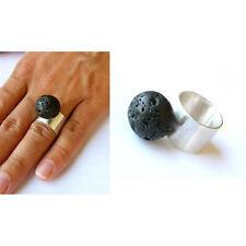 Ring, Lava-Stein Silber 925, NEU