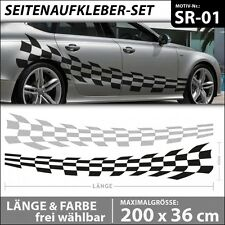 Rennsport Flagge Autoaufkleber Car Styling Tattoo Tuning Aufkleber . SR-01