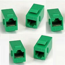 Gr 5x RJ45 CAT.6 Keystone Network Cable Connector Adapter Extender Plug Coupler