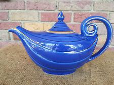Excellent Vintage Hall Pottery 6 Cup Tea Pot Cobalt Blue Art Deco Aladdin Genie