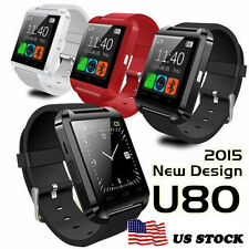 U80 Bluetooth Smart Wrist Watch Phone Mate For Android Samsung 2016 NEW US STOCK