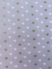 Heart Sprinkles Cloud Grey Michael Miller Fabric FQ + More 100% Cotton