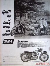 1957 Motor Cycle ADVERT - B.S.A. '500cc Shooting Star OHV Twin' Print AD