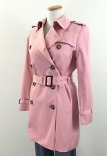 Gorgeous Jones New York Double Breasted Belted Trench Coat Women's Small S