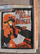 Painted needlepoint canvas Illustrated Pall Mall budget 6D by Wrights needlework