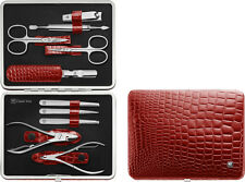 Zwilling Frame case 10-tlg. in croco black finish red Manicure timeless Design