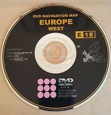 Toyota, Lexus ORIGINAL Navigation DVD Update Map E1E 2017 West Europa Europe