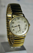 """Singer"" ~17J cal.AS 1130 Old Circa 1951's Swiss G/P case Men's Wristwatch"