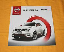 Nissan Juke Nismo RS 2014 Prospekt Brochure Catalog Depliant Folder Prospetto