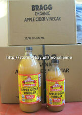 AUTH BRAGG RAW ORGANIC 'WITH THE MOTHER' APPLE CIDER VINEGAR 946 ML/32 FL OZ