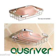 Wall Mounted Soap Dish Holder Basket Tray Bathroom Bath Shower Stainless Steel