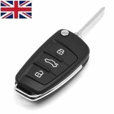 UK Seller 3 Buttons FLIP REMOTE KEY FOB CASE & Blade For AUDI A4 A6 A3 TT A8 Q7