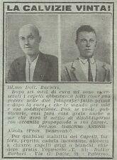 W2397 La calvizie vinta - Dott. Barberi - Pubblicità del 1930 - Vintage advert