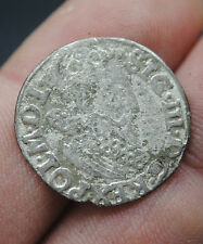KING SIGISMUND III HAMMERED MEDIEVAL POLISH SILVER 3 GROSZ COIN