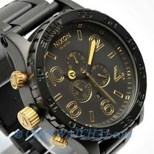 NIXON A083-1041 A0831041 Watch Mens 51-30 CHRONO MATTE BLACK GOLD  Xmas Gift