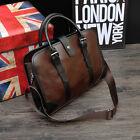 Men's Vintage Brown Leather Handbag Messenger Bag Shoulder Laptop Bag Briefcase