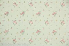 1960s Vintage Wallpaper Mini Floral Tiny Pink Roses