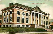 Wisconsin, WI, Eau Claire, Library Early Postcard
