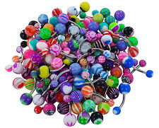 Lot de 25 piercing NOMBRIL NEUF Tongue bar revendeur
