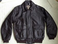LL Bean Flying Tiger Flight Bomber Type A2 Goat Skin Leather Jacket Coat Mens M