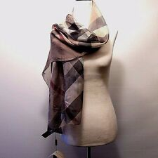 J-1754104 New Burberry Color Block Smoked Trench Chiffon Scarf  70 x 160 cm