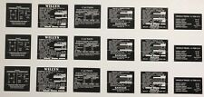 1/6th Scale US WWII JEEP DATA PLATES & ACCESSORY DATA PLATES