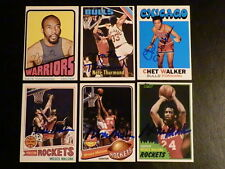 Chet Walker HOF AUTOGRAPH 1971 Topps Signed Chicago Bulls Card NBA Auto 1971-72