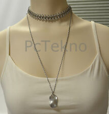 Urban Outfitters Hammered Pendant Mesh High/Low Choker Necklace  - NEW