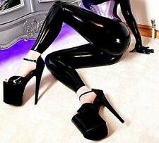 Extreme high heels Pumps / Riemchen schwarz Lack